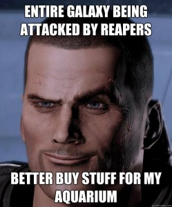 Shepard's a busy guy, but even he needs time to relax.